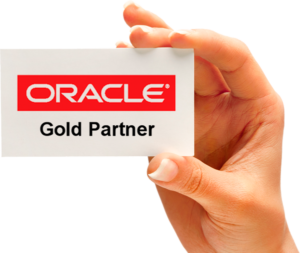 Oracle gold partner card in hand
